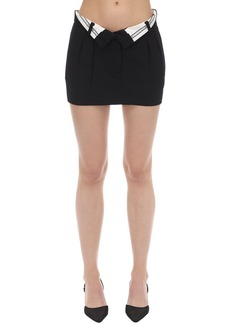 Alexander Wang Foldover Wool Blend Mini Skirt