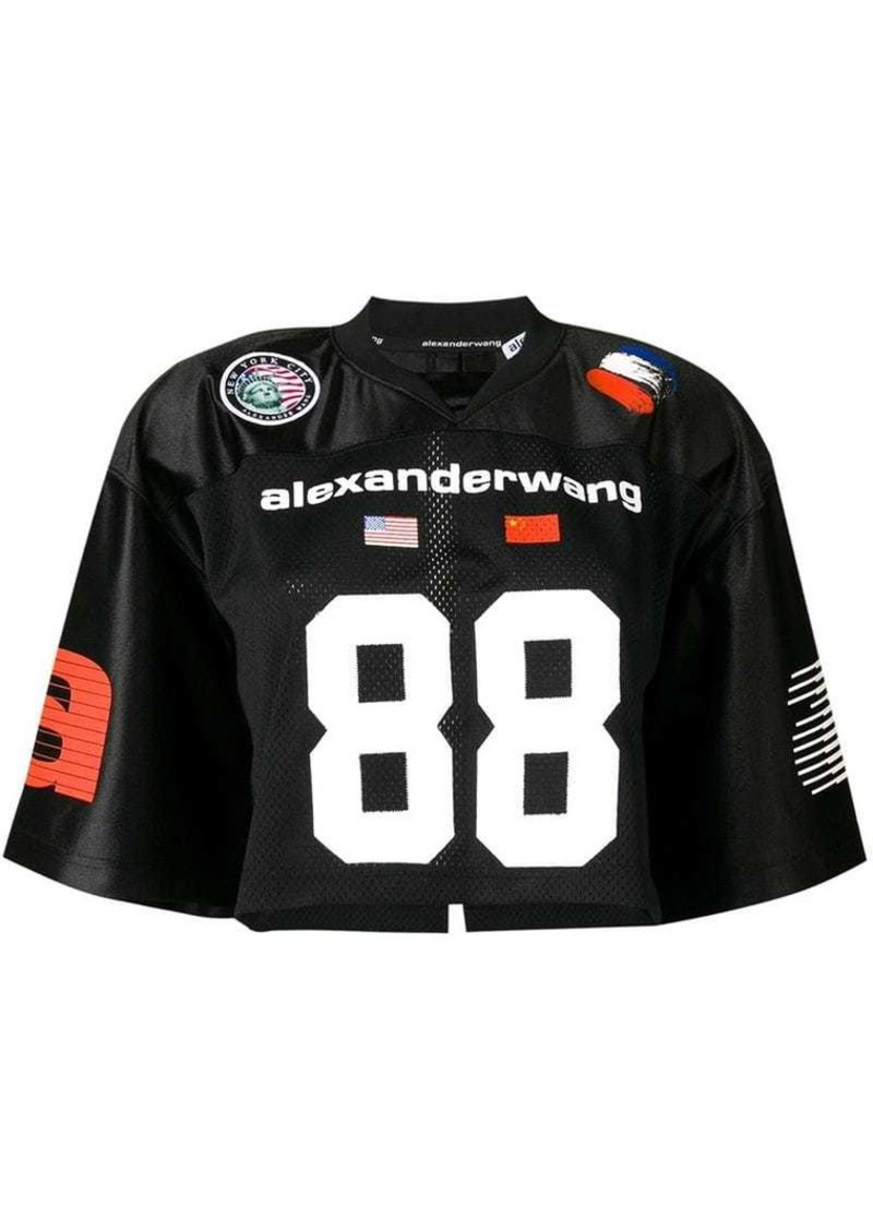 Alexander Wang football jersey cropped top