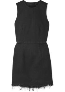 Alexander Wang Frayed Denim Mini Dress