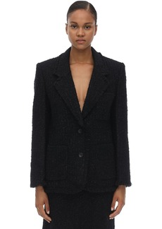 Alexander Wang Fringed Edges Tweed Jacket
