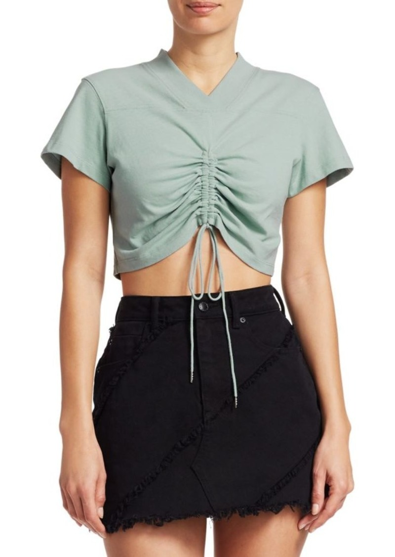 Alexander Wang Front Tie Cropped Tee