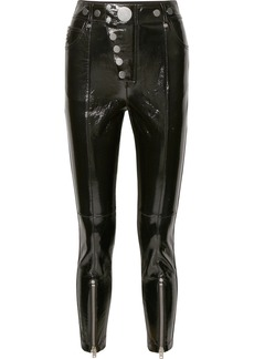 Alexander Wang Glossed-leather Skinny Pants