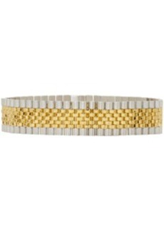 Alexander Wang Gold & Silver Watch Band Choker
