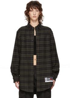 Alexander Wang Green & Black Flannel Player ID Shirt