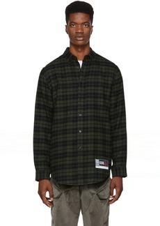Alexander Wang Green & Black Flannel Player ID Classic Shirt