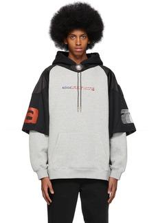 Alexander Wang Grey & Black Jersey Athletic Hoodie
