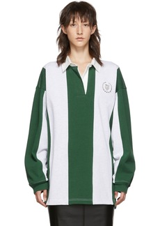 Alexander Wang Grey & Green Rugby Shirt