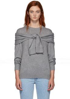 Alexander Wang Grey Shoulder Tie Sweater