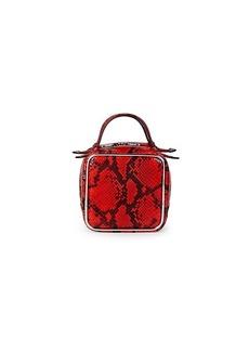 Alexander Wang Halo Embossed Snakeskin-Print Leather Top Handle Bag