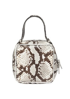 Alexander Wang Halo Snake-Print Leather Top-Handle Bag
