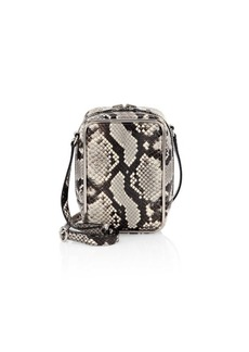 Alexander Wang Halo Snakeskin Print Leather Crossbody