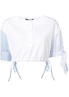 Alexander Wang Henley cropped shirt