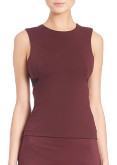 Alexander Wang High Lux Ponte Back Cut- Out Shell Top