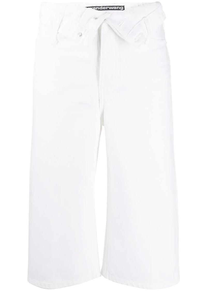 Alexander Wang high rise cropped leg jeans