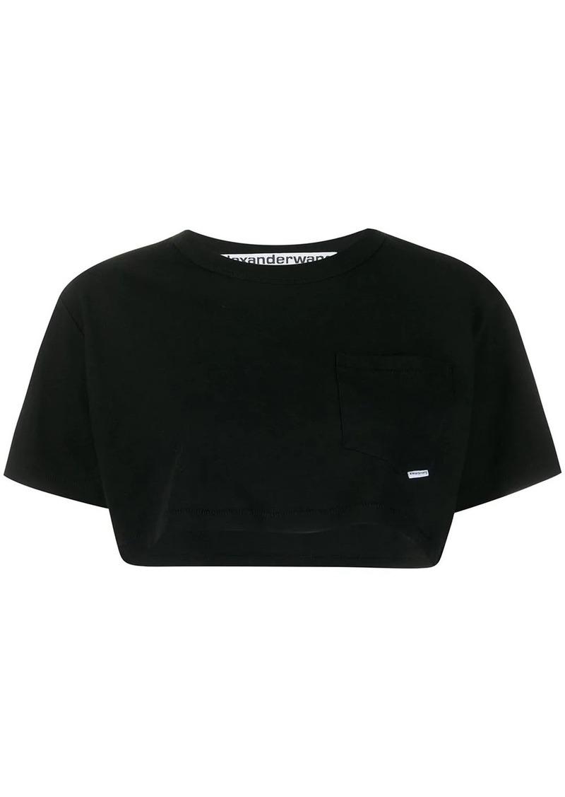 Alexander Wang High Twist cropped cotton T-shirt