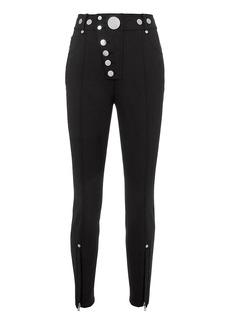 Alexander Wang High Waist Snap Ponte Leggings
