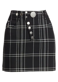 Alexander Wang High-Waisted Plaid Mini Pencil Skirt