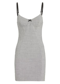 Alexander Wang Houndstooth Bodycon Dress