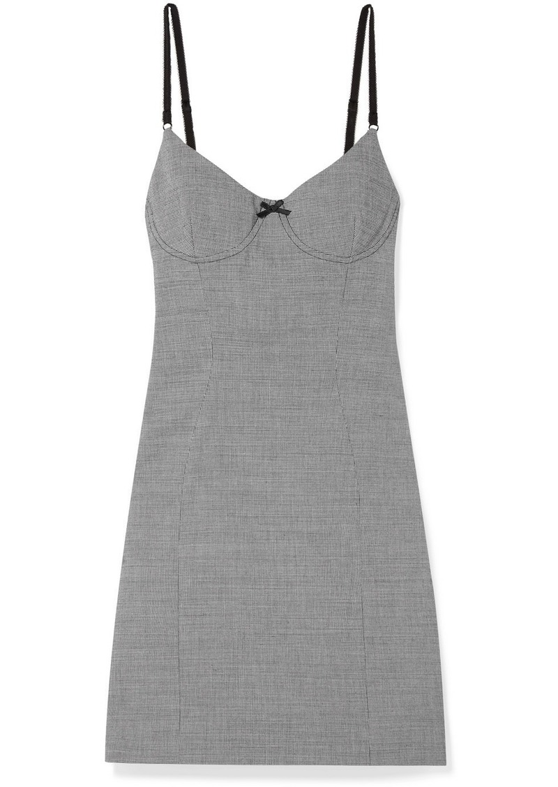 Alexander Wang Houndstooth Tweed Mini Dress