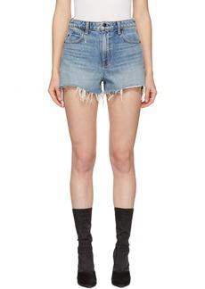 Alexander Wang Indigo Denim Cut-Off Bite Shorts