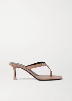 Alexander Wang Ivy Crystal-embellished Leather Sandals