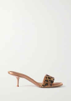 Alexander Wang Jessie Crystal-embellished Leather Mules