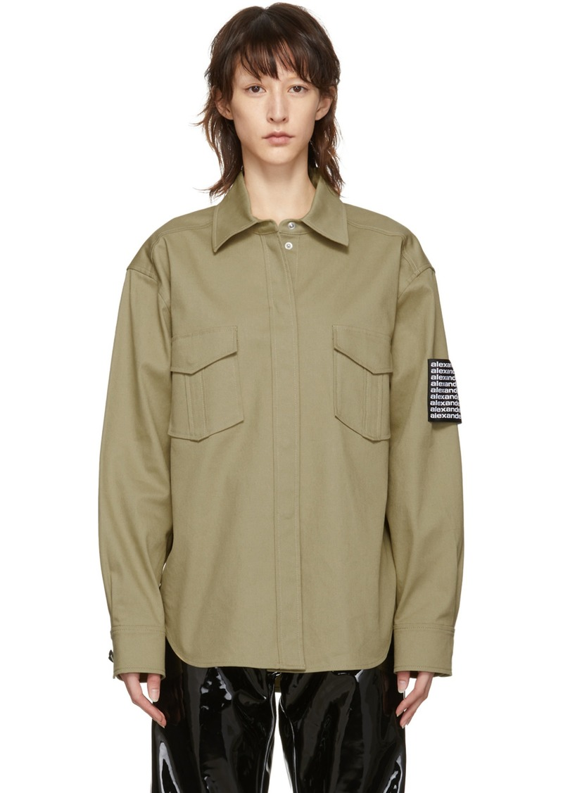 Alexander Wang Khaki Classic Shirt