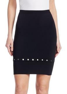 Alexander Wang Knee-Length Snap-Hem Skirt