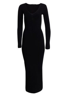 Alexander Wang Knit V-Neck Bodycon Maxi Dress
