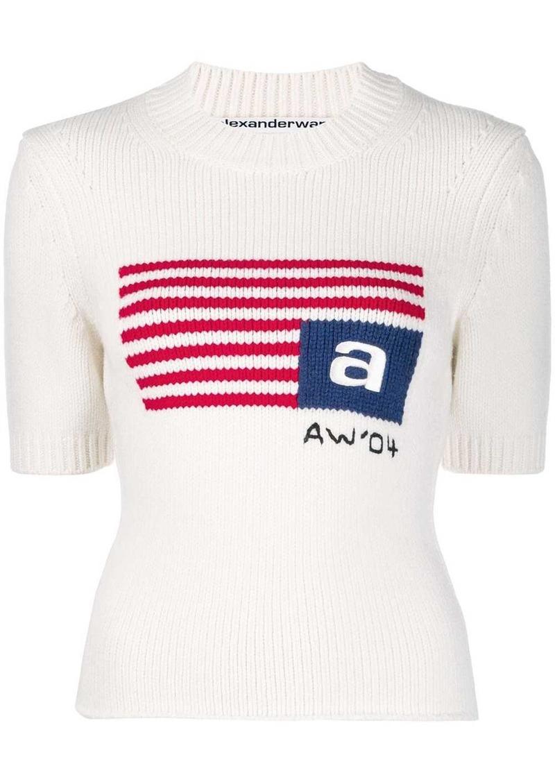 Alexander Wang knitted flag top