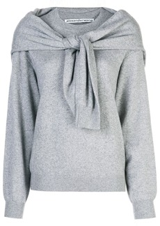 Alexander Wang knot shoulder knitted top