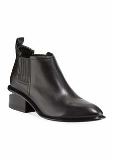 Alexander Wang Kori Low-Heel Leather Booties