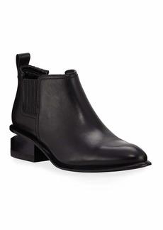 Alexander Wang Kori Low-Heel Leather/Suede Booties