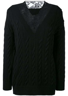 Alexander Wang lace detail jumper