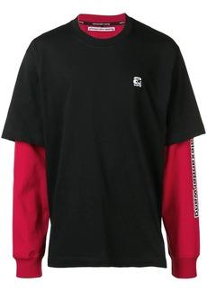Alexander Wang layered logo sweatshirt