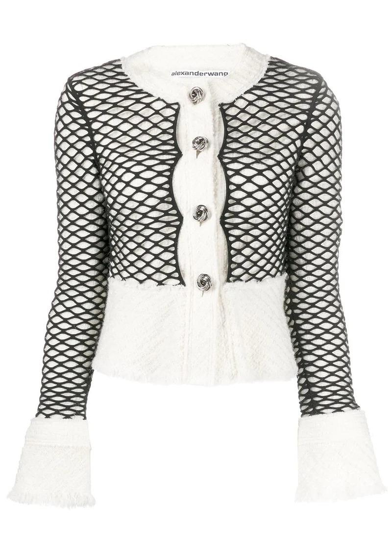 Alexander Wang layered mesh cropped jacket