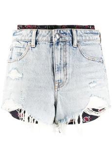 Alexander Wang layered style distressed shorts