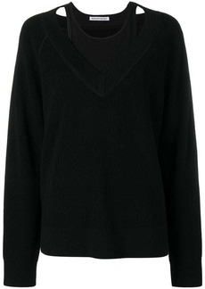 T by Alexander Wang layered tank-top jumper