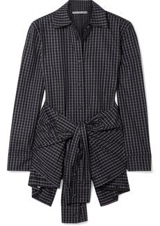 Alexander Wang Layered Tie-front Checked Poplin Shirt