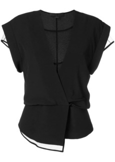 Alexander Wang layered wrap top