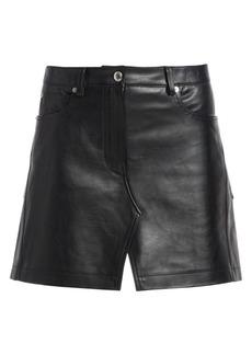 Alexander Wang Leather Apron Mini Skirt