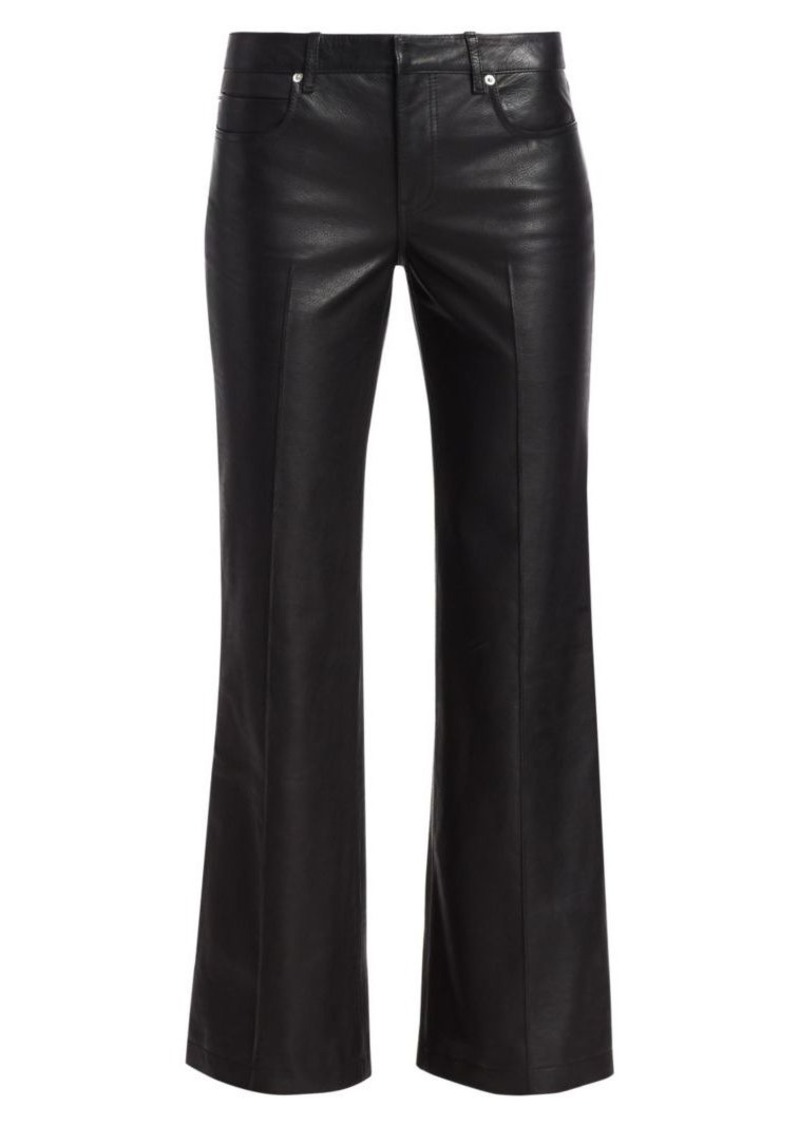 Alexander Wang Leather Bootcut Flare Pants