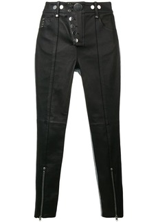 Alexander Wang skinny leather denim trousers