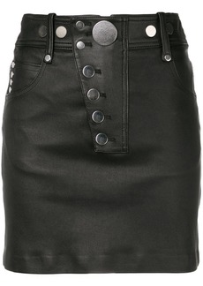 Alexander Wang leather front mini skirt
