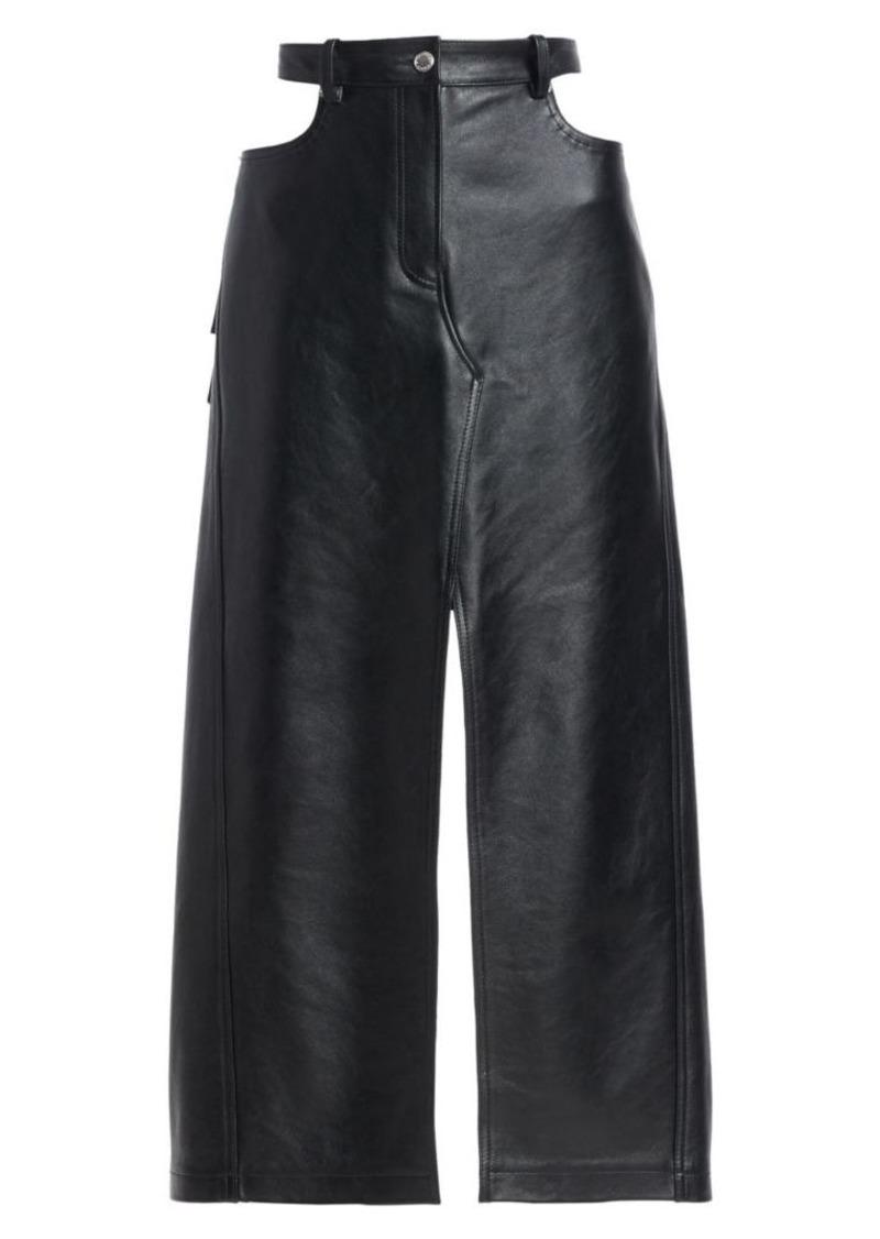 Alexander Wang Leather Midi Apron
