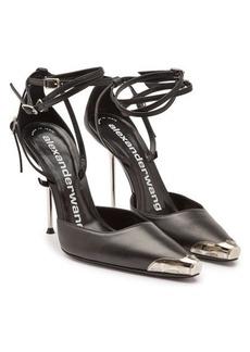 Alexander Wang Leather Selena Ankle Strap Stilettos