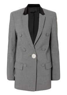 Alexander Wang Leather Sleeve Houndstooth Blazer