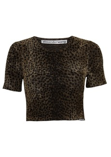 Alexander Wang Leopard Chenille Cropped Top