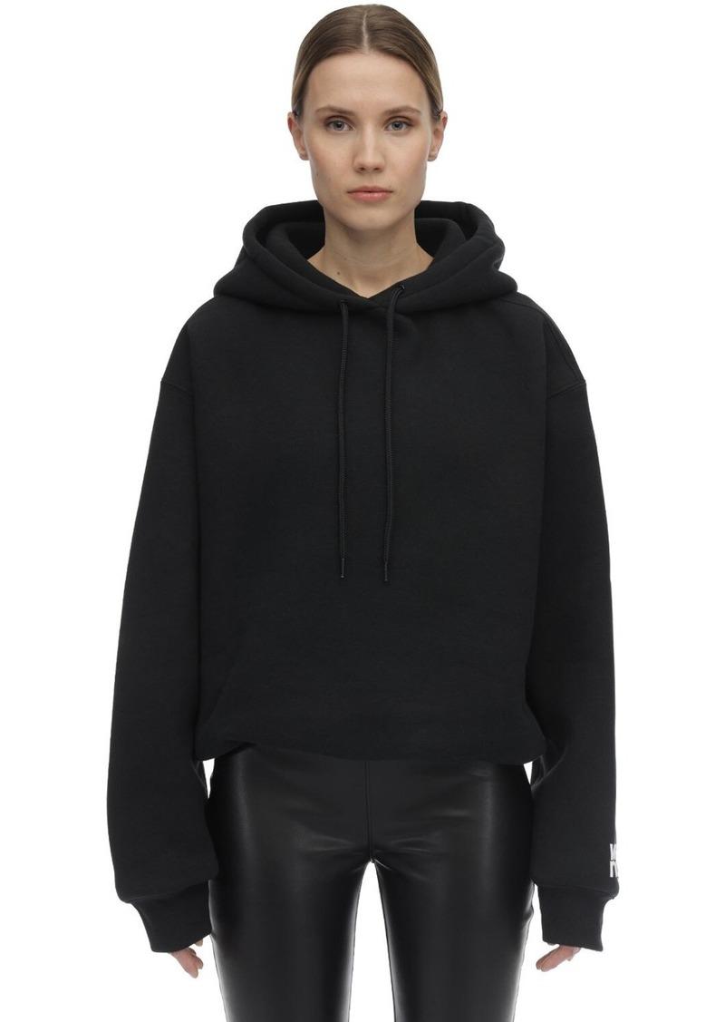 Alexander Wang Logo Cotton Blend Sweatshirt Hoodie