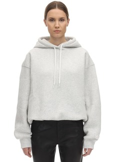 Alexander Wang Logo Cotton Blend Sweatshirt Hoodie